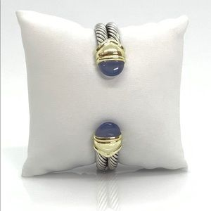 David Yurman  Double Cable Bracelet w/Chalcedony